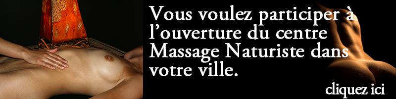 Participez à l'ouverture du centre Massage Naturiste